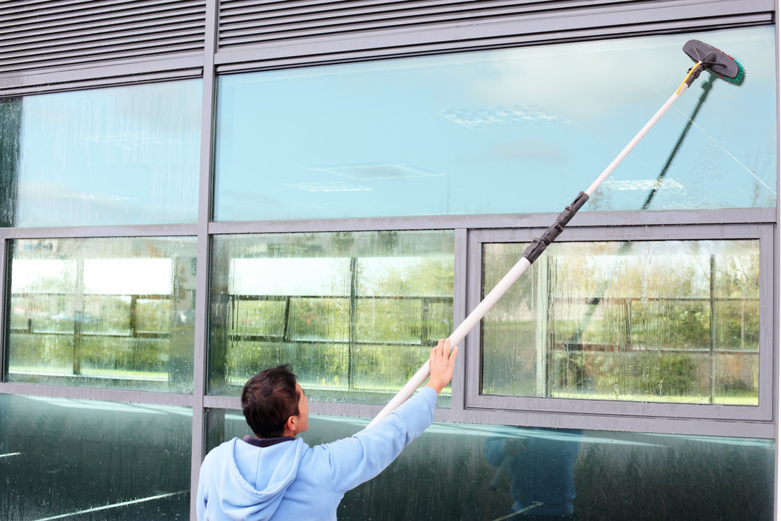 pole fed window cleaning