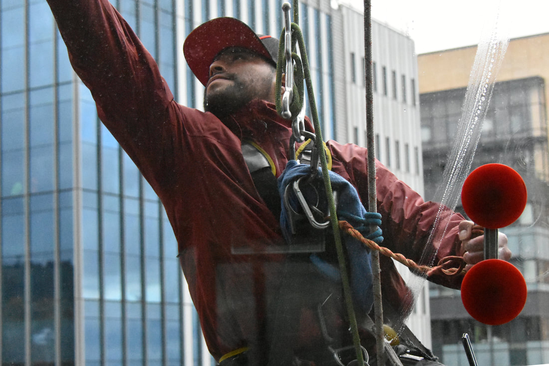 suspension window cleaners